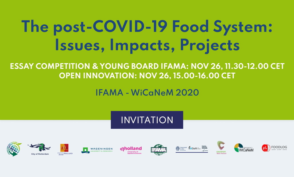 Invitation live webinar: Essay Competition and Young Board IFAMA2020